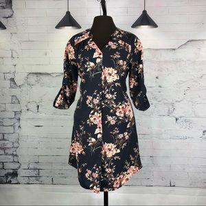 41 Hawthorn Floral Shirt Dress Button Down  245